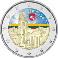Liettua 2 € 2017 Vilna väritetty