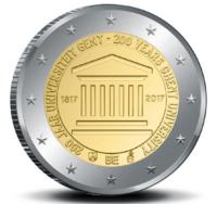 Belgia 2 € 2017 Gentin yliopisto 200 v. BU