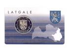 Latvia 2 € 2017 Latgale BU coincard