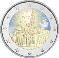 Vatikaani 2 € 2017 Fátiman ilmestys 100 vuotta väritetty