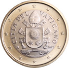 Vatikaani 1 € 2018 Vatikaanin vaakuna BU