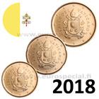 Vatikaani 10, 20 & 50 senttiä 2018 BU