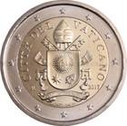 Vatikaani 2 € 2018 Vatikaanin vaakuna BU pillerissä