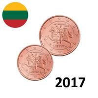Liettua 1s & 2s 2017 UNC