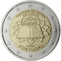 Portugali 2 € 2007 Rooman Sopimus