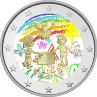 Malta 2 € 2017 Peace väritetty