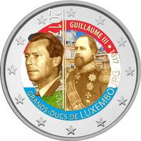 Luxemburg 2 € 2017 Guillaume III väritetty