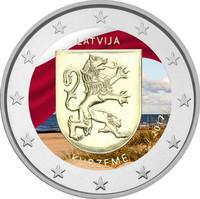 Latvia 2 € 2017 Kurzeme väritetty