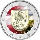 Latvia 2 € 2017 Latgale väritetty