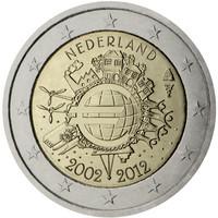 Alankomaat 2 € 2012 Euro 10 vuotta