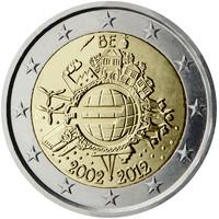 Belgia 2 € 2012 Euro 10 vuotta