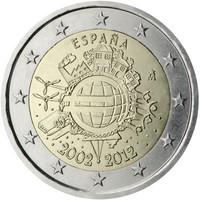 Espanja 2 € 2012 Euro 10 vuotta