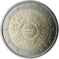 Portugali 2 € 2012 Euro 10 vuotta