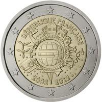 Ranska 2 € 2012 Euro 10 vuotta