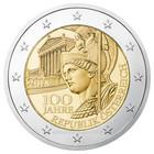 Itävalta 2 € 2018 Itävallan tasavalta 100 vuotta
