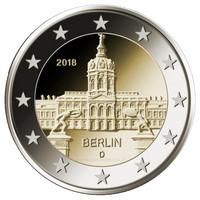 Saksa 2 € 2018 Berliini / Charlottenburgin linna