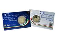 Italia 2 € 2018 Perustuslaki 70 vuotta BU coincard