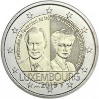 Luxemburg 2 € 2019 Charlotte 100 v. BU Silta-mintmark