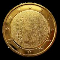 Suomi 2 € 2017 Itsenäinen Suomi 100 vuotta kullattu