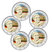 Saksa 2 € 2018 Helmut Schmidt A-J väritetty