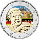 Saksa 2 € 2018 Helmut Schmidt väritetty