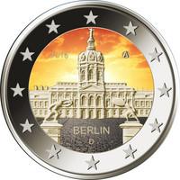 Saksa 2 € 2018 Berliini / Charlottenburgin linna väritetty