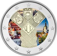Viro 2 € 2018 Baltia yhteisjulkaisu: Itsenäisyys 100 vuotta väritetty