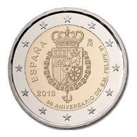Espanja 2 € 2018 Kuningas Felipe VI