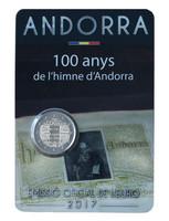 Andorra 2 € 2017 Kansallishymni 100 v. BU coincard