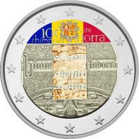 Andorra 2 € 2017 Kansallishymni 100 v. väritetty
