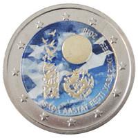 Viro 2 € 2018 Itsenäisyys 100 vuotta väritetty