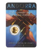 Andorra 2 € 2018 Perustuslaki 25 vuotta BU coincard