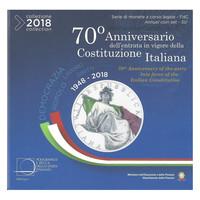 Italia 2018 BU rahasarja 10,88 € Tasavalta 70 vuotta