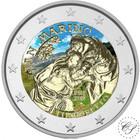 San Marino 2 € 2018 Tintoretto väritetty