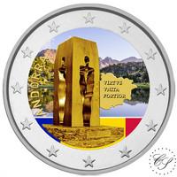 Andorra 2 € 2018 Perustuslaki 25 vuotta väritetty