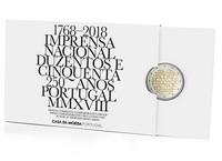 Portugali 2 € 2018 INCM 250 vuotta, Proof