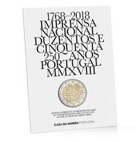 Portugali 2 € 2018 INCM 250 vuotta BU coincard