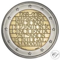 Portugali 2 € 2018 INCM 250 vuotta