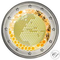 Slovenia 2 € 2018 Maailman mehiläispäivä väritetty