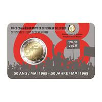 Belgia 2 € 2018 Toukokuun 1968 tapahtumista 50 v. BU coincard
