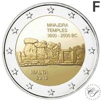 Malta 2 € 2018 Mnajdran temppelit F- merkinnällä BU