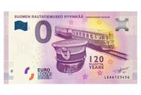 Suomi 0 euro 2018 Suomen Rautatiemuseo II UNC