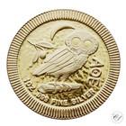 Niue 2018 Pallas Athenen pöllö hopeakolikko 1 oz kullattu