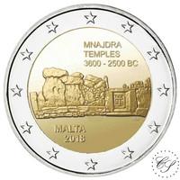 Malta 2 € 2018 Mnajdran temppelit
