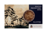 Malta 2 € 2018 Mnajdran temppelit, coincard