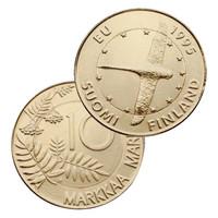 Suomi 10 mk 1995 EU Joutsen KULLATTU