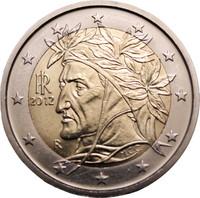 Italia 2 € 2016 Dante Alighieri UNC