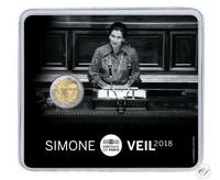 Ranska 2 € 2018 Simone Veil BU coincard