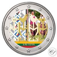 Liettua 2 € 2018 Laulu- ja tanssifestivaali väritetty