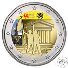Belgia 2 € 2018 Toukokuun 1968 tapahtumista 50 v. väritetty